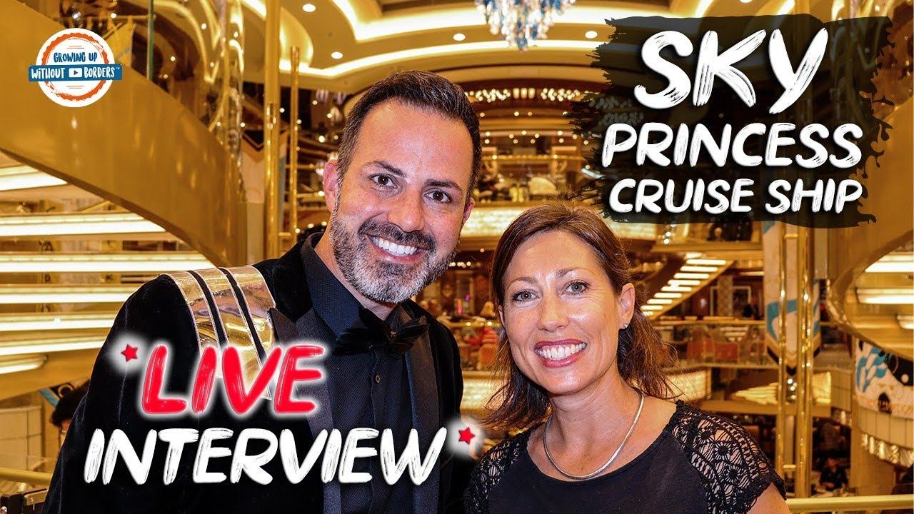 Sky Princess Cruise Ship Live Interview